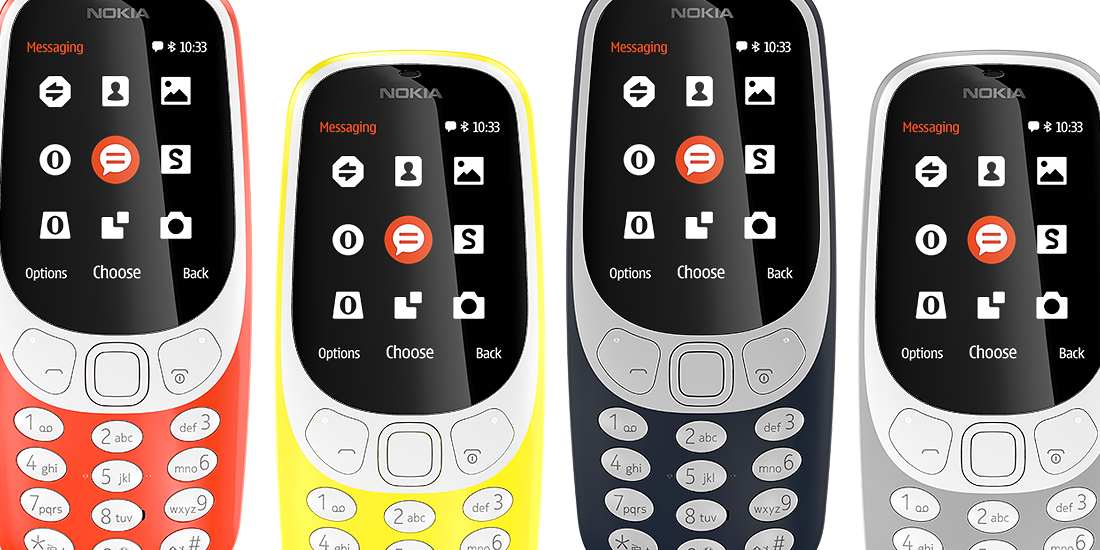 Classic Nokia 3310 Phone Redesigned for 2017 Brings 'Snake' Game With It