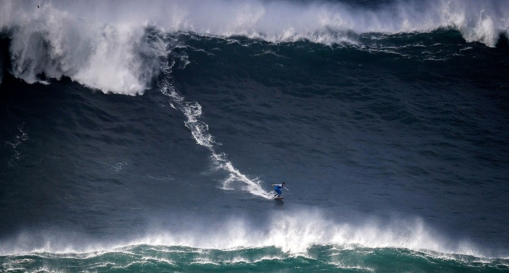 Surfing the Big Waves in Portugal