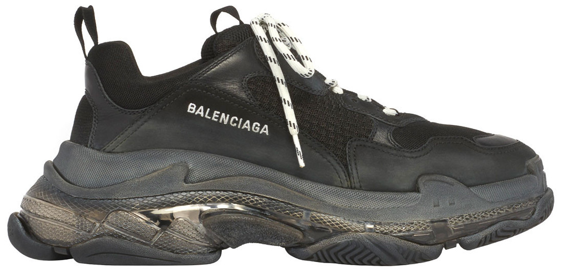 Balenciaga Adds Clear Air Unit to Its Triple S Sneakers