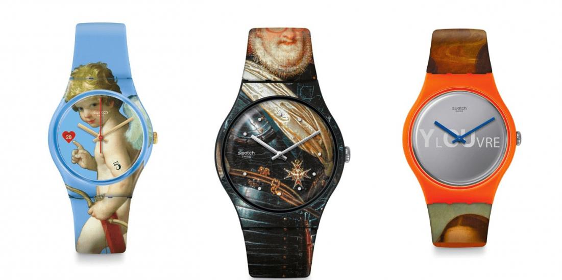 H Swatch εμπνέεται από κορυφαία έργα του μουσείου του Λούβρου