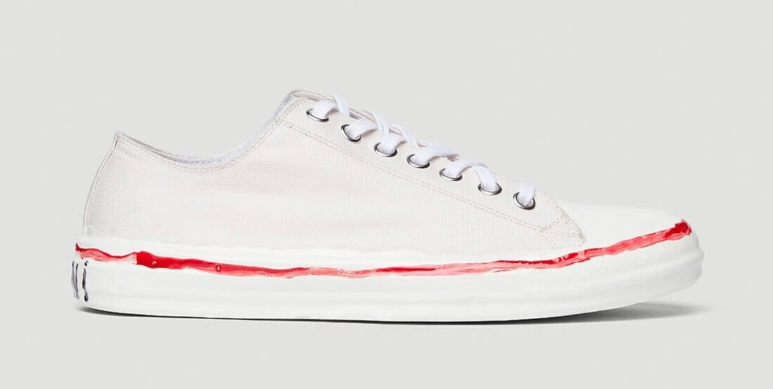 Marni Drops Quirky Canvas Sneakers With Lacquered Midsole